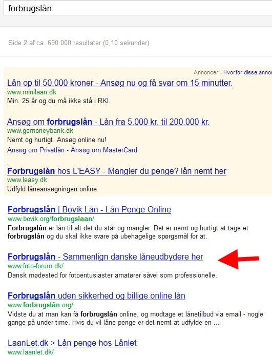 302 redirect, der går galt i Googles søgeresultater